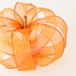 Quick Fall Craft: DIY Ribbon Pumpkin