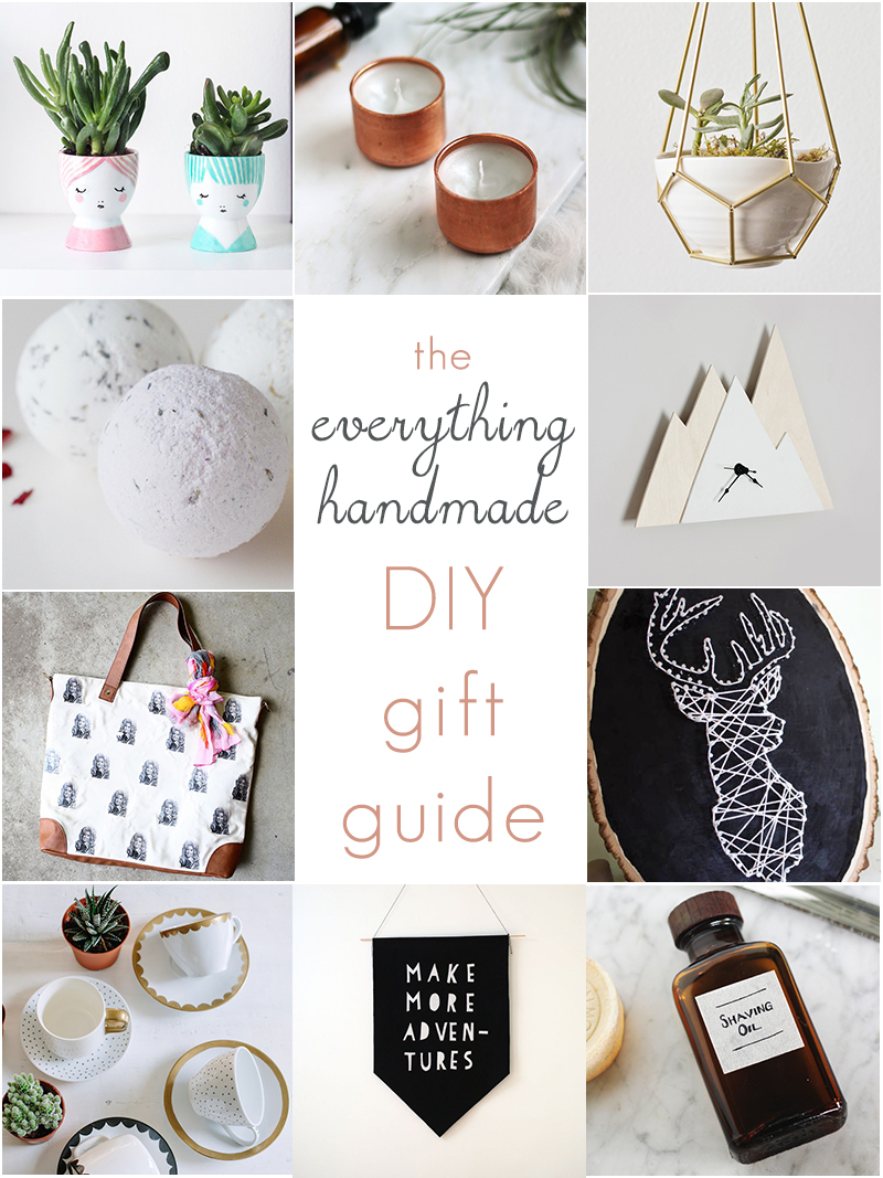 The Ultimate Handmade DIY Gift Guide. Make Christmas and the holidays extra special for your loved ones with these DIY Gift Ideas.