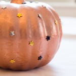 quick fall craft: star studded pumpkin