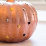quick fall craft: star studded pumpkin