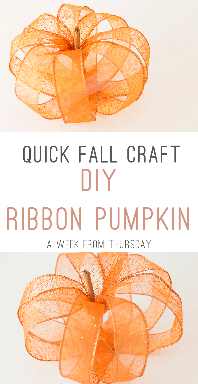 DIY Ribbon Pumpkin