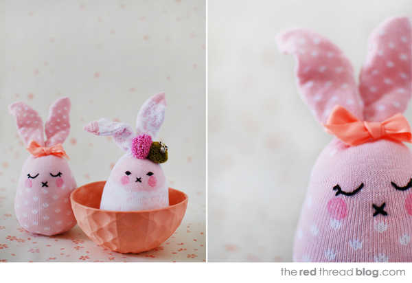Red Thread Sock Easter Bunny