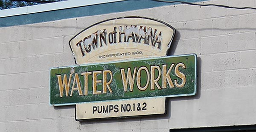 Waterworks Sign