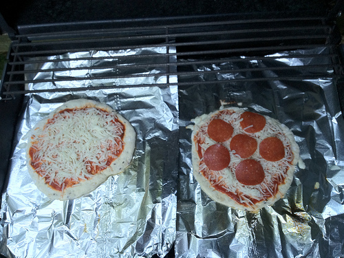grilled pizza before