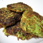 green food: zucchini fritters