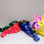 pom pom animal sculptures