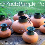 upcycled: door knob pumpkin patch