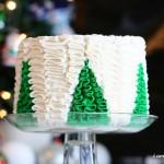 gorgeous Christmas tree cake