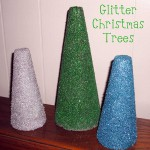 Christmas Craft – DIY Glitter Christmas Trees
