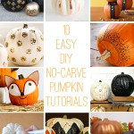 10 Easy DIY No-Carve Pumpkin Tutorials – A Roundup