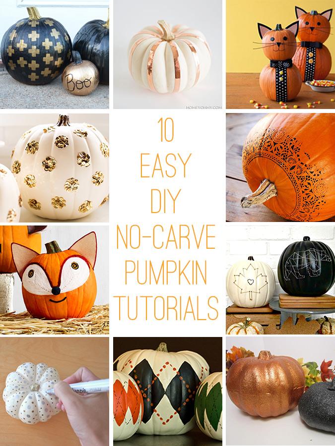 No-Carve DIY Pumpkin Tutorials